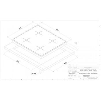 DOMİNOX Siyah Cam Gazlı  60 Lık Ankastre Set 2