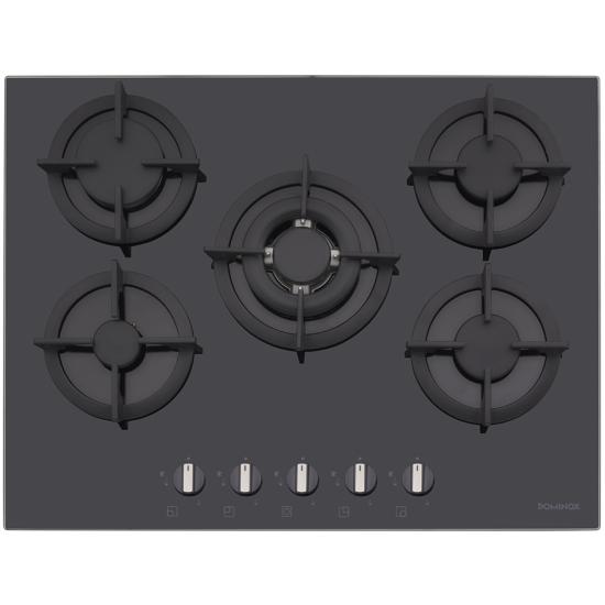 Dominox DHG 705 4G TC BK F C Siyah Cam Ocak
