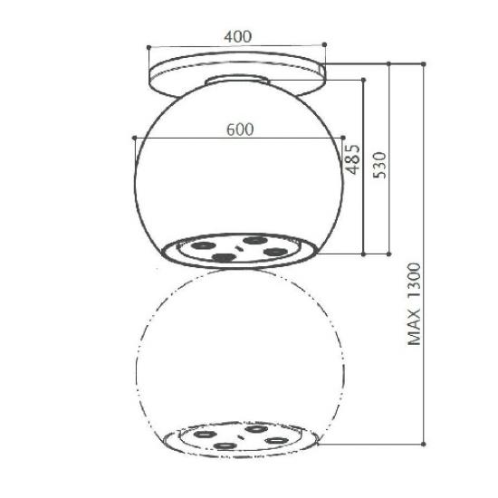 Franke Faber Arkea Plus Paslanmaz Çelik/Polikarbonat 4 Farklı Renkli Ada Tipi Davlumbaz