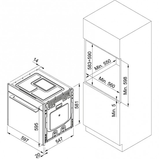 Franke Frames by Franke FS 913 P CH DCT TFT Almond Pyrolitic Ankastre Fırın