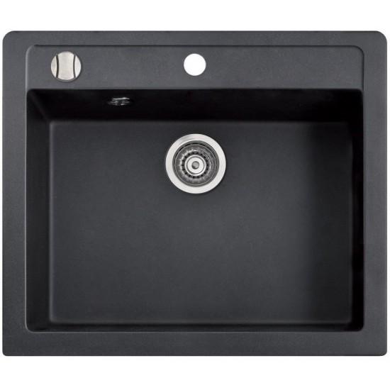 Marmorin Bario 590 1K Tezgah Üstü Siyah Granit Evye