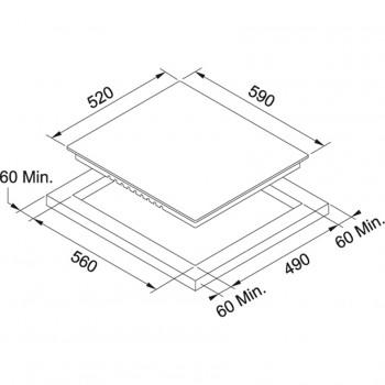 Franke Cam Seramik FHR 604 C T WH White glass Elektrkli Ocak