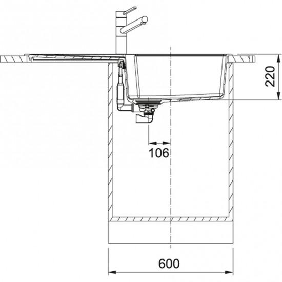 Franke Urban UBG 611-100 Granit Bianco Tezgah Üstü / Sıfır Evye