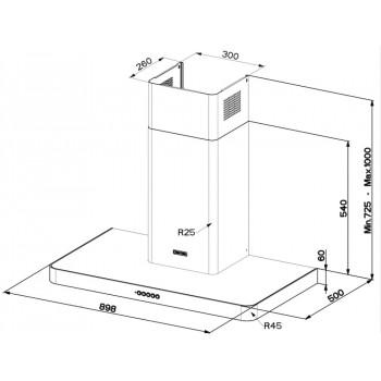 Faber T-Lıght Mat Beyaz Ev8+ WH Matt A90
