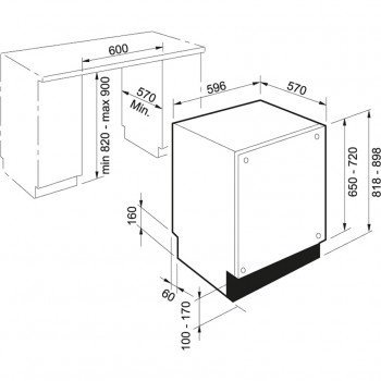 Franke Bulaşık Makinesi FDW 614 D10P A+++  Tam Ankastre