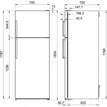 Franke Solo FFRF 478 NF XS A+ Paslanmaz Çelik Buzdolabı