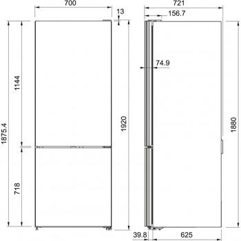 Franke Solo FCB 508 NF BK A++ Cristallo Nero Siyah Cam Buz Dolabı