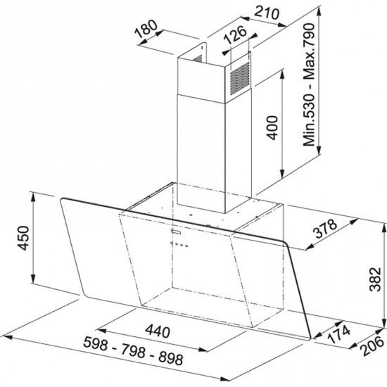 Franke Glass Linear Vertical FPJ 615 V BK A/SS Siyah