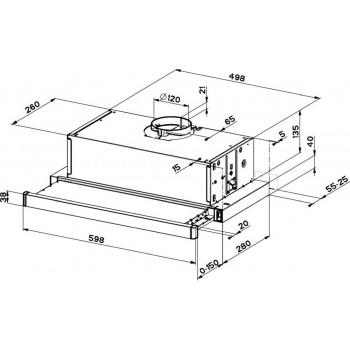 Dominox  Da 642 T Beyaz Wh 120Mm Aspiratör