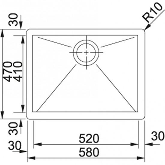 Franke Planar PPX 210-58 Paslanmaz Çelik Tezgaha Sıfır Evye