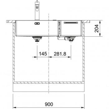 Franke Box Center BWX 220-54-27 Paslanmaz Çelik  Evye