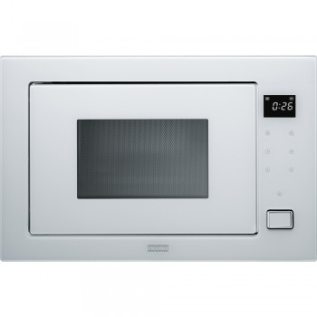 Franke Microwave Crystal FMW 250 CR2 G WH White glass Ankastre Mikrodalga