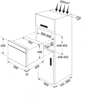 Franke Microwave FMW 380 CL G GF Grafite Mikrodalga